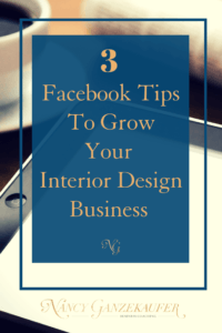 Ways to use facebook to grow your business and why it's so critical to marketing and helping grow your interior design business.