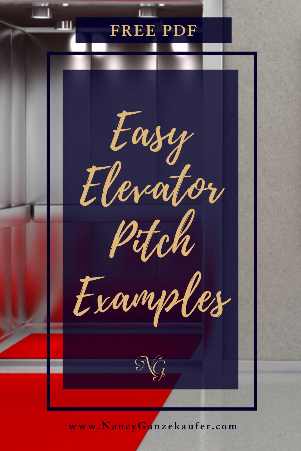 Easy elevator pitch examples to describe what you do.