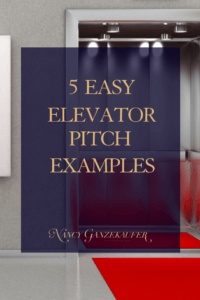 Elevator pitch examples and 5 easy ways to describe what you do in a way that distinguishes you from competition. #BusinessCoachNancy #businesscoachforinteriordesigners #interiordesignbusiness #interiordesignbusinessblog #interiordesignbusinesscoach #interiordesignerbusinesscoach #businesscoachinteriordesign #interiordesignerbusinessblog