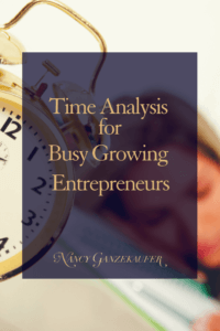 Time analysis for entrepreneurs busy growing entrepreneurs actively working on growing a business and revenue generating activities.