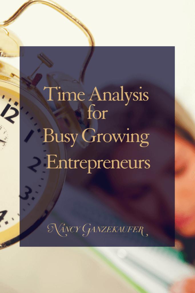 Time analysis for entrepreneurs