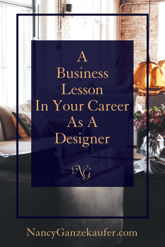 An important business lesson to learn in your working career as a designer