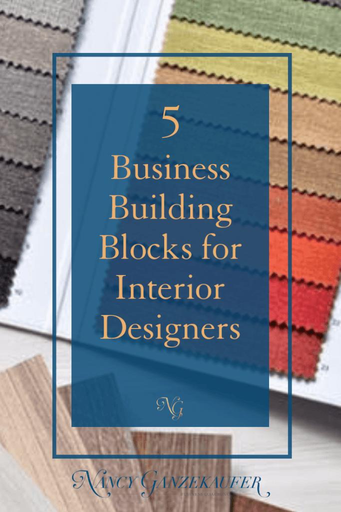 Urgent 5 business building blocks for a design business.