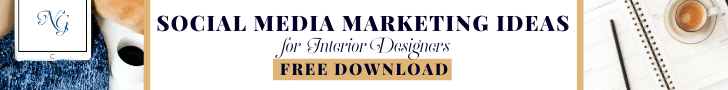 Grab your free download for monthly social media marketing ideas to use in your Interior Design business.
