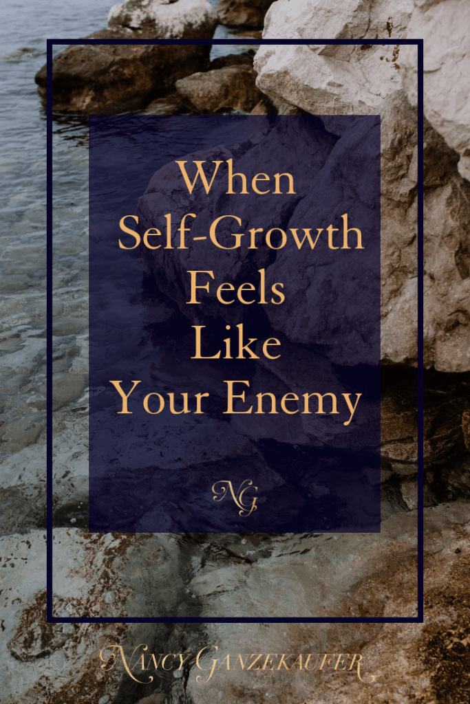 When self-growth feels like your enemy remember it's an area of personal growth being challenged.