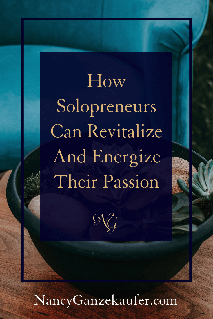 How solopreneurs can revitalize and energize their passion to stay motivated in their design business.