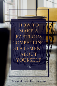 How to make a compelling statement about yourself that is powerful, concise and creative in conversations or in your bio. #networkingconversations #elevatorpitch #professionaltitle #biostatement
