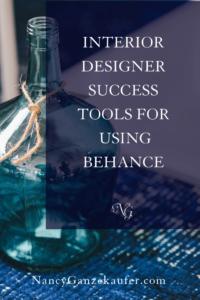 Interior designer success tools for using behance to showcase design portfolio. #interiordesigners #creativeentrepreneurs #showcasedesigns #designersusingbehance
