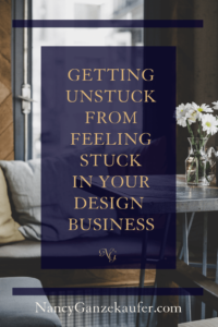 Getting unstuck from feeling stuck in your design business is one of the common phases you experience as a business owner. Here are a few points to think about to help you get unstuck and back on the road to progress. #feelingstuck #gettingunstuckinyourbusiness #motivation #inspiration