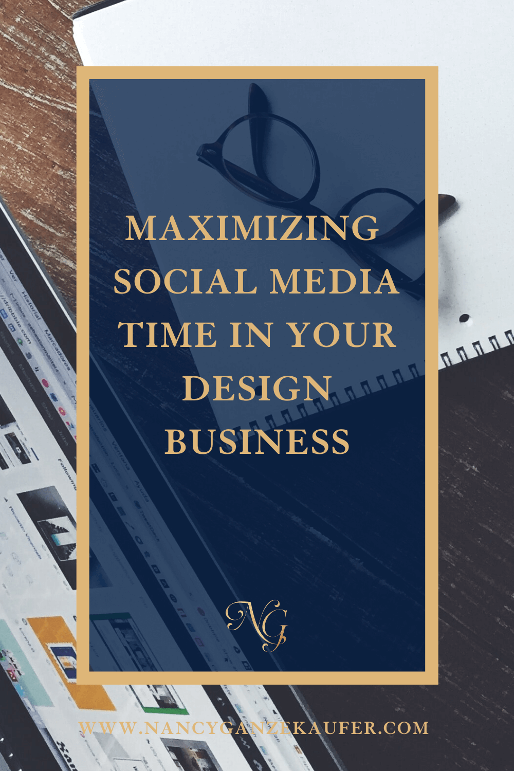 Maximizing use of your social media time in your design business.