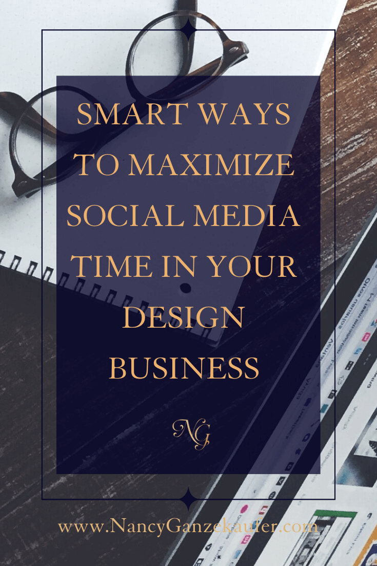 Smart ways to maximize your social media time in your interior design business with a marketing strategy plan.