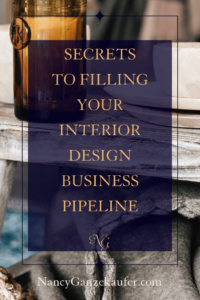 Filling your interior design business pipeline starts by taking action every day reaching out to your followers.