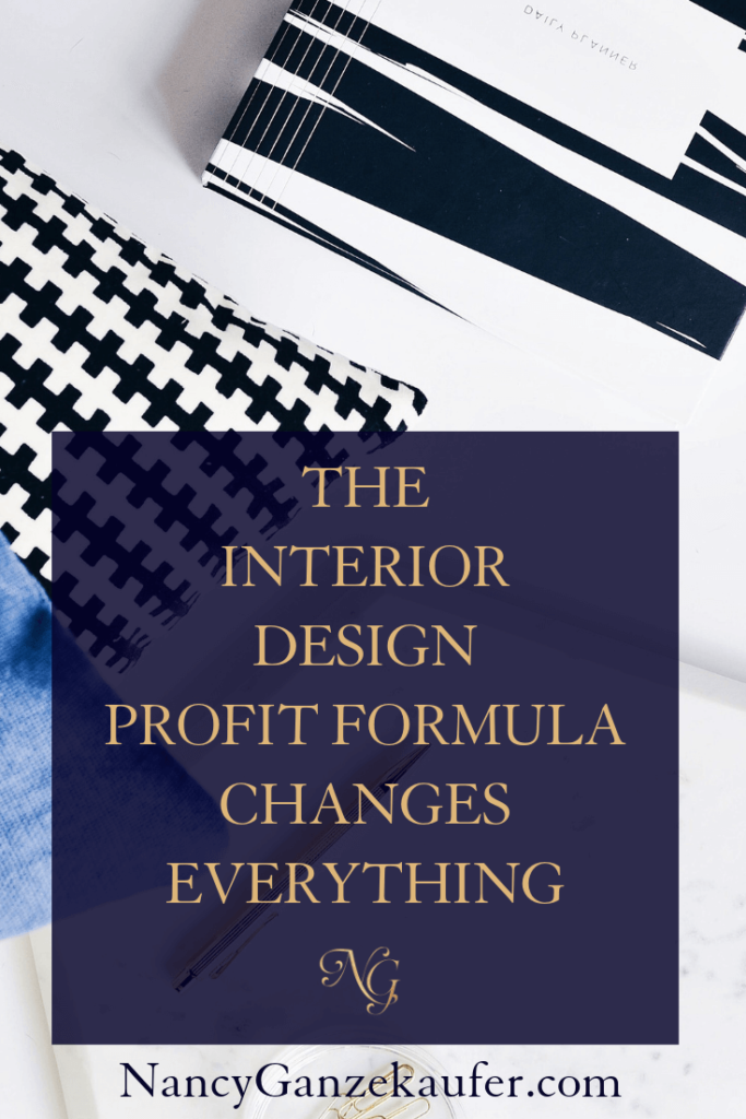 The profit formula that changes the way you do business. #interiordesignprofitformula #designbusiness #designers