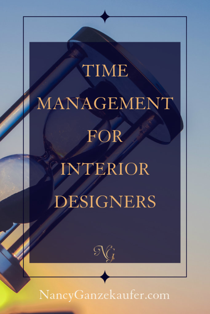 Time management for interior designers.