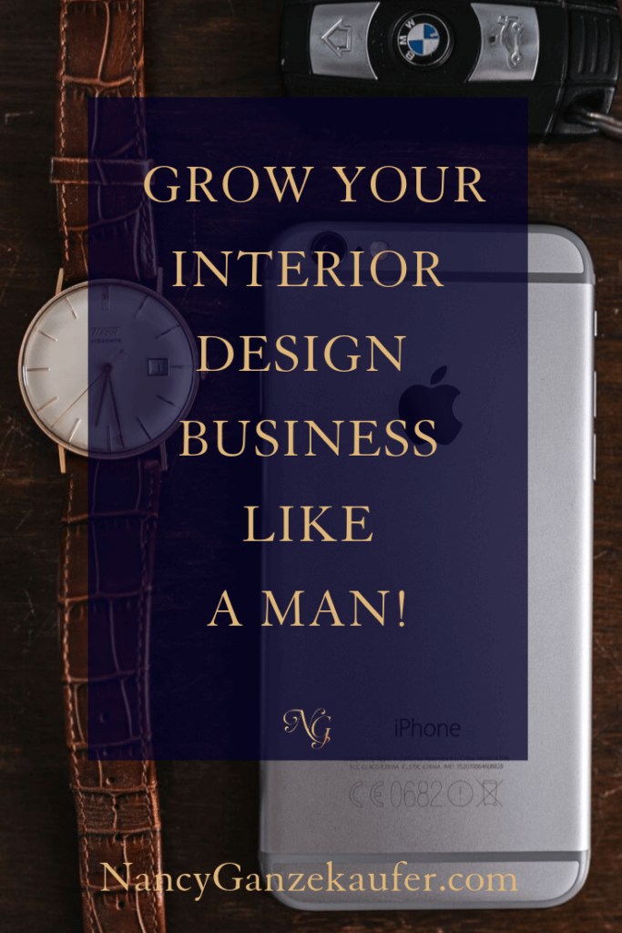 Grow your interior design business like a man and do your research, set your prices and go for it. #interiordesigner #designerresearch #designerprices #businesscoachnancy