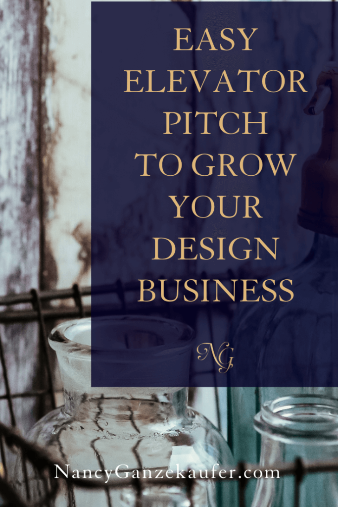 Easy elevator pitch examples to grow your design business. #elevatorpitch #easytips #businessgrowth