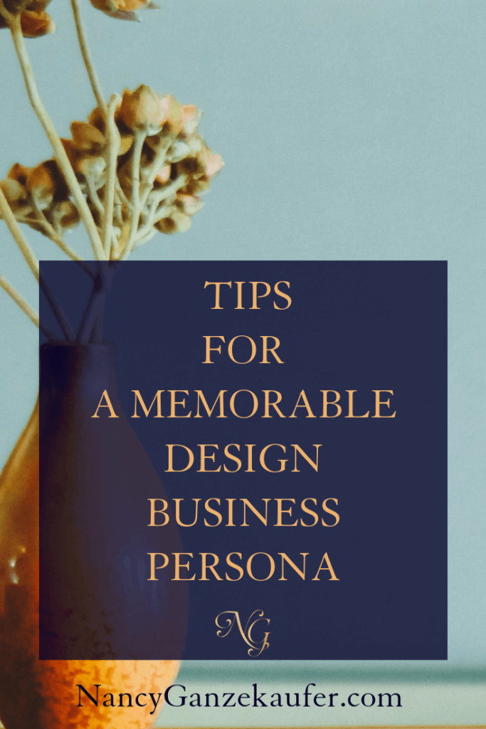 Easy guide to a design business persona. #interiordesignbusiness #businesscoachnancy #designbiztips