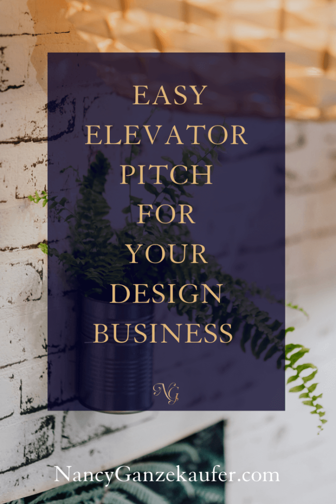 Elevator pitch for your interior design business. #interiordesign #designbusinesstips #elevatorpitch