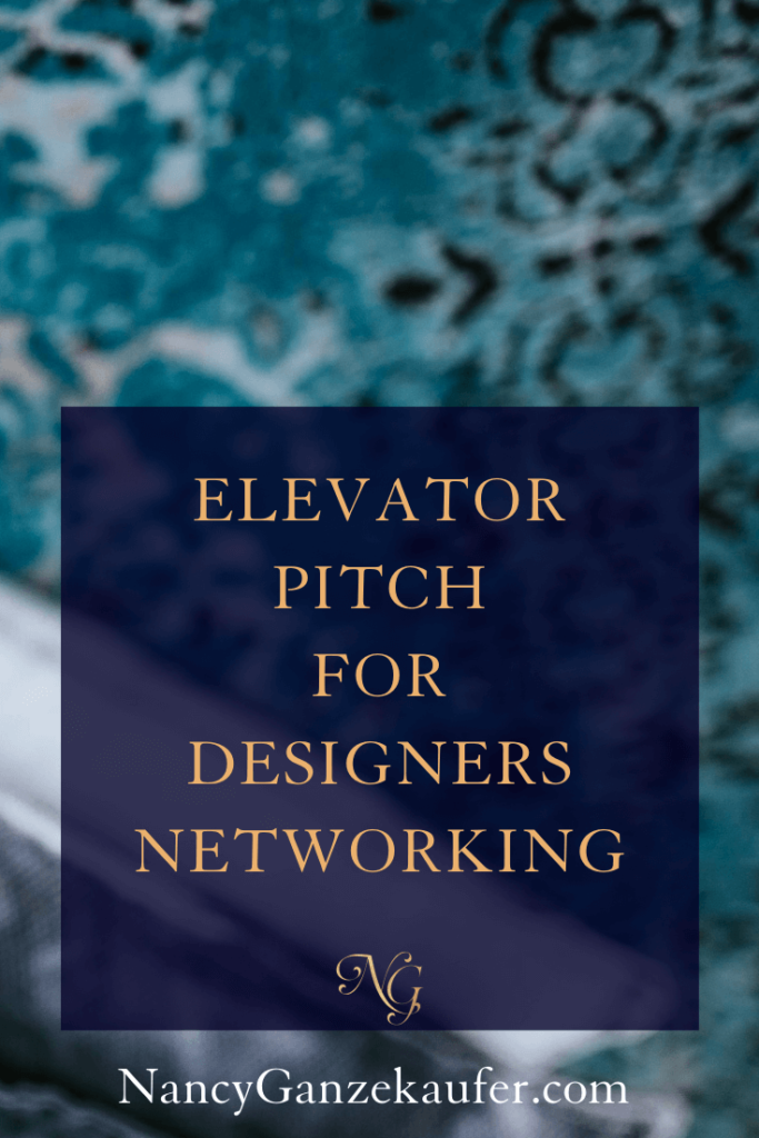 Elevator pitch tips for designer networking events. #networking #elevatorpitch #businesscoachnancy