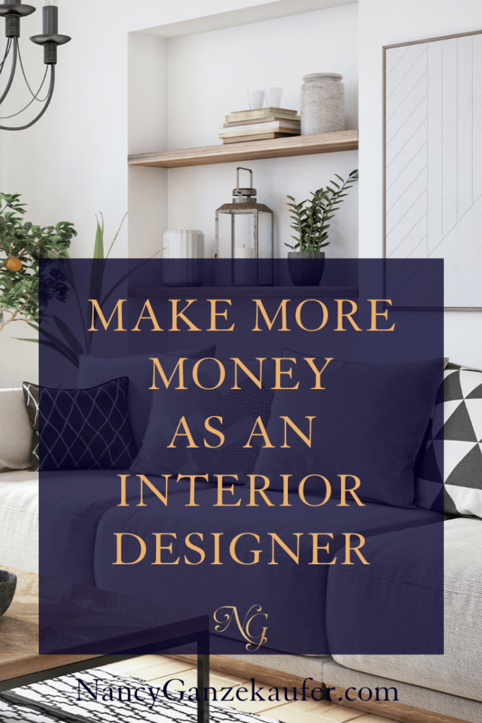 How to increase your business growth as an interior designer and make more money. #designbiz #sales #profit