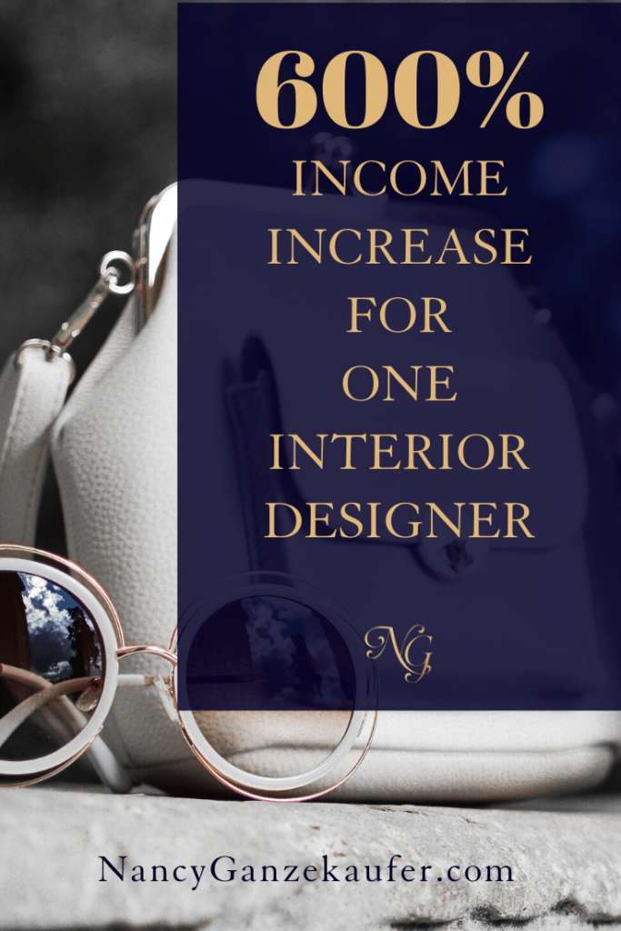 Huge profit increase for an interior designer and her business. #interiordesignbusiness #incomeincrease #businesscoachnancy