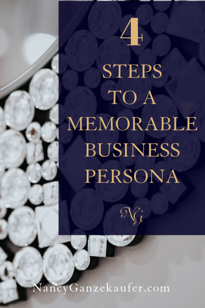Take the stress out of building your business persona with these four steps. #businessstrategy #interiordesigners