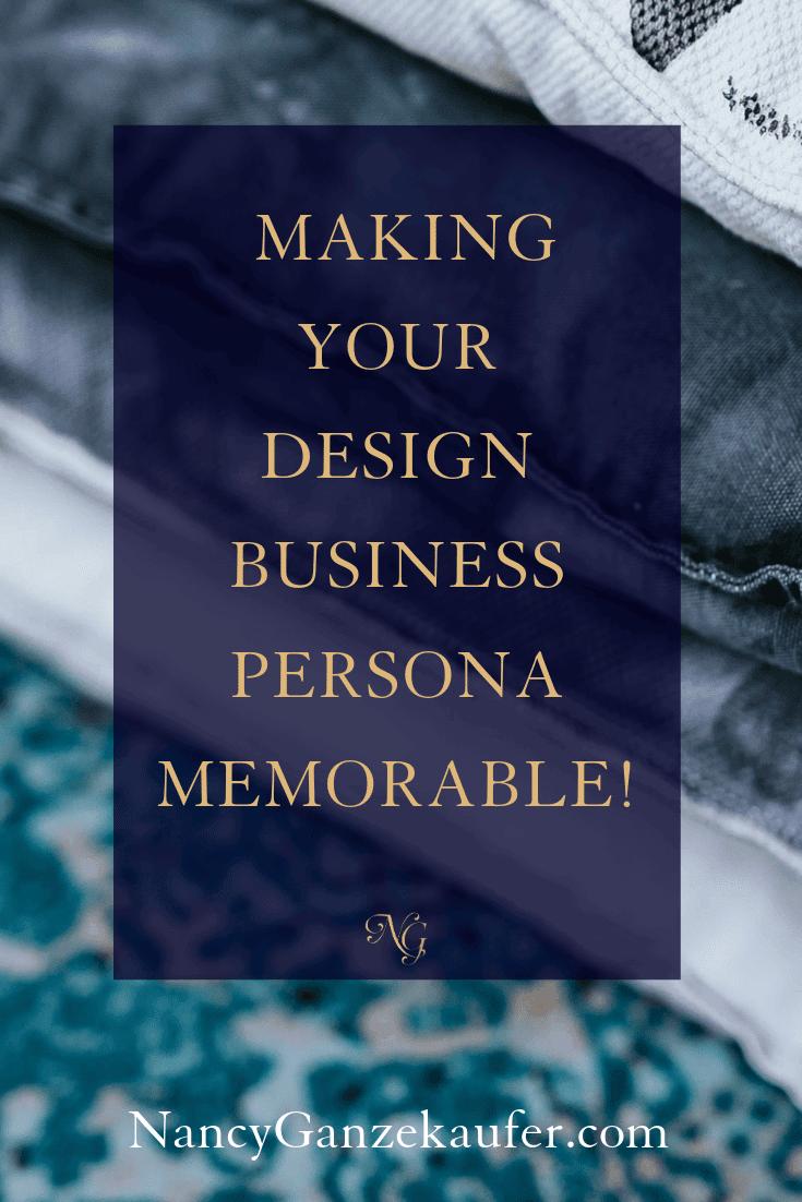 Making a memorable design business persona using these tips. #designbusiness #businesspersona #businesstips