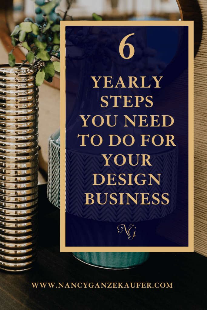 6 yearly steps you need to take for your design business.