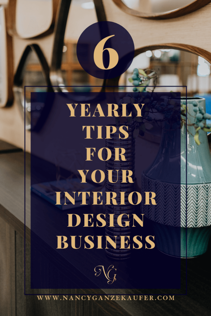Six yearly tips to do for your interior design business success.