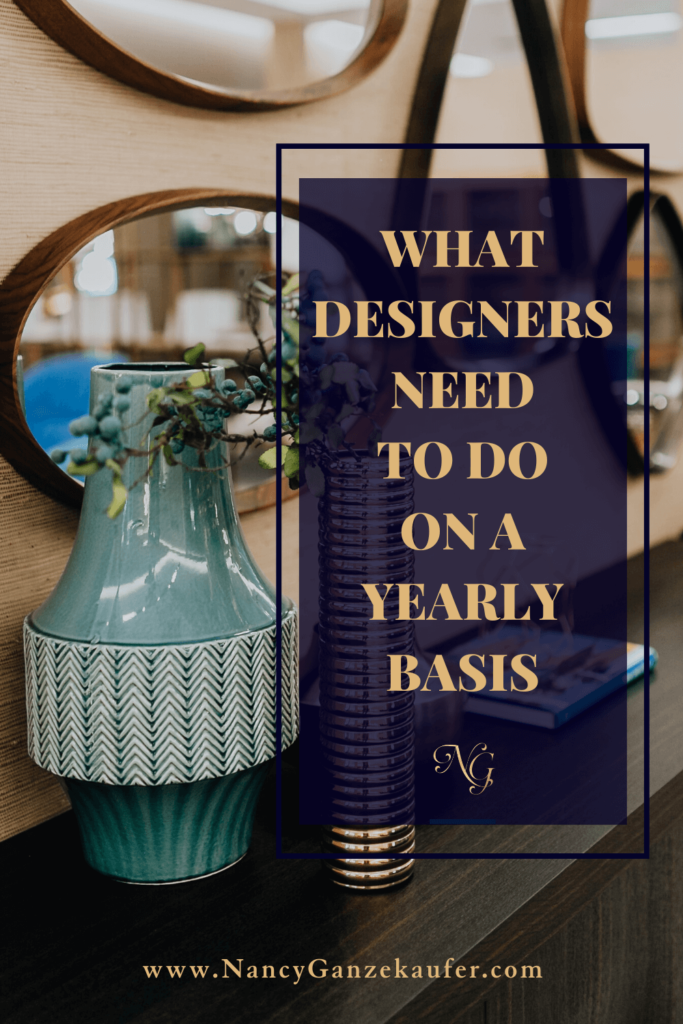 What all design professionals must do on a yearly basis.