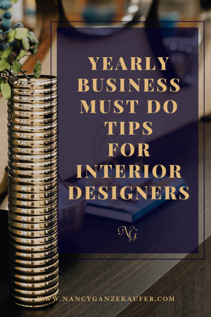 Yearly business must do coaching tips for interior designers
