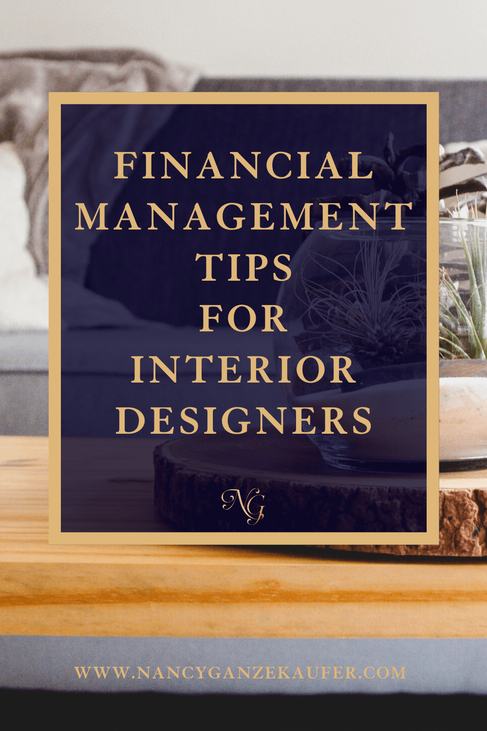 Financial management and interior design businesses.