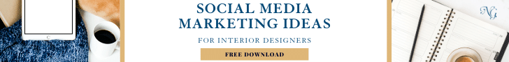 Free download guide with social media marketing tips for Interior Designers.