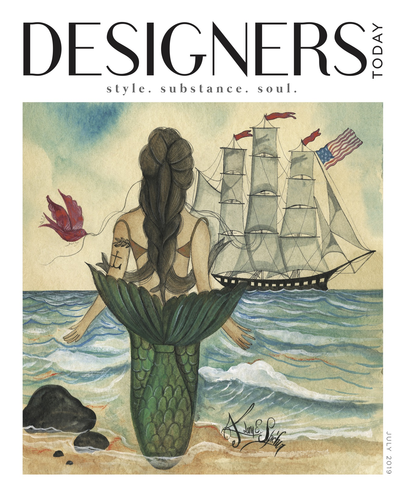 Nancy Ganzekaufer in Designers Today July 2019