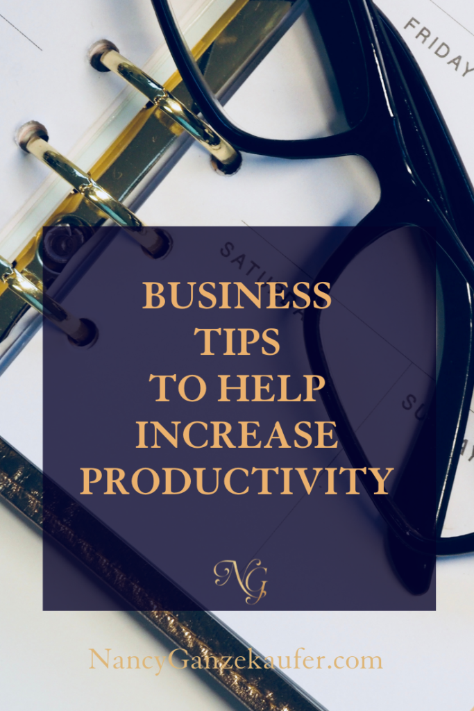 Business coach tips to help increase your productivity.
